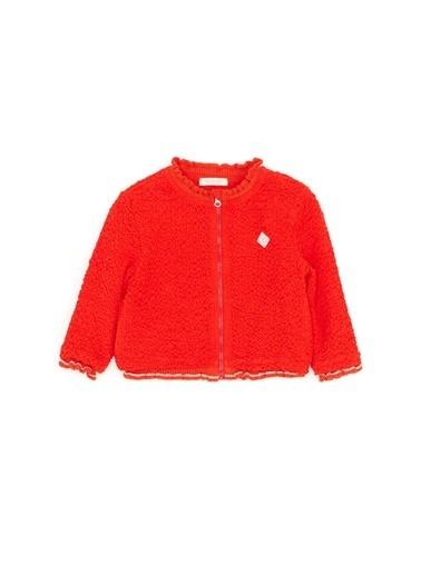 BG Baby Kız Bebek Kırmızı Bomber Ceket Kırmızı